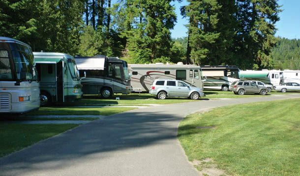 Motorhome hook up at home